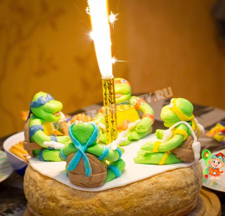 детский торт черепашки ниндзя рецепт