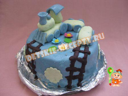 торт паровозик своими руками