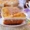 бисквитное пирожное с ягодным и сметанным желе