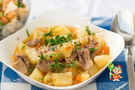 индейка с картошкой и овощами в мультиварке