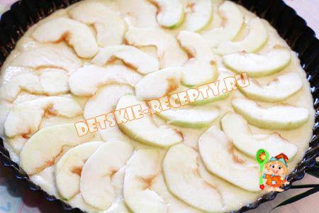 манная запеканка с яблоками
