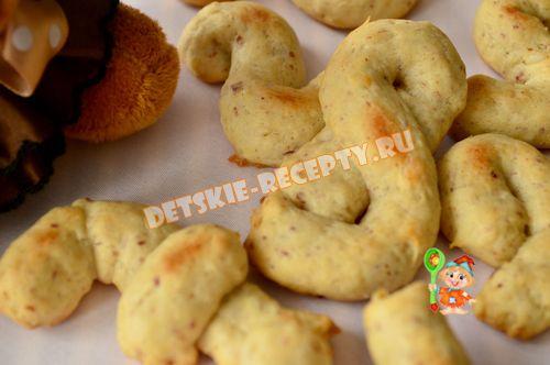 песочное печенье с орехами для детей