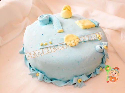 торт на 1 годик мальчику