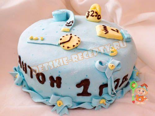Детский торт для мальчика на 1 год своими руками