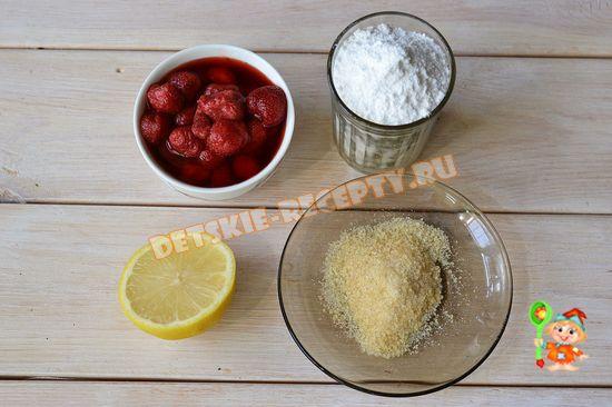 продукты для клубничного суфле