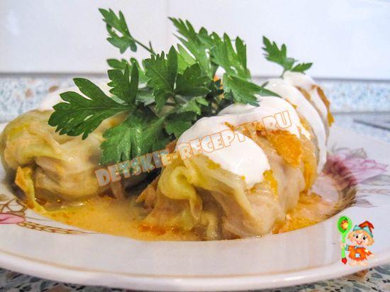 Голубцы рецепт с молодой капусты в духовке