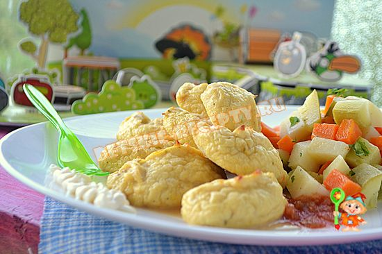 куриные кнели для ребенка на обед