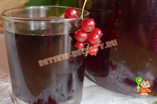 компот из красной и черной смородины