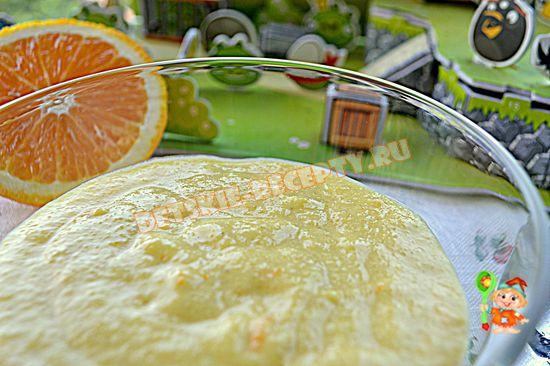 апельсиновый мусс из манки для ребенка