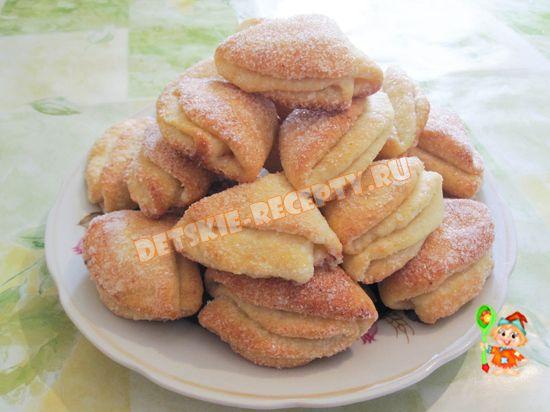 творожное печенье тругольники