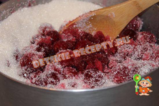вишня с сахаром