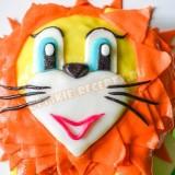 детский торт с мастикой Львенок