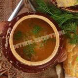 тыквенный суп в горшочках