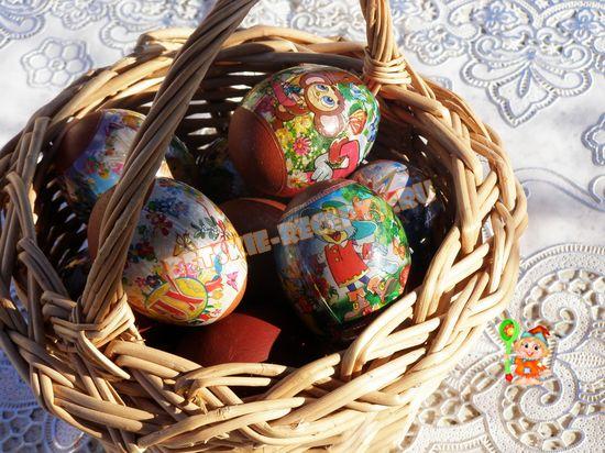 яйца крашеные луковой шелухой