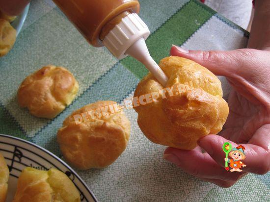 Заварные пирожные пошаговый рецепт