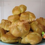 заварные пирожные со сгущенкой