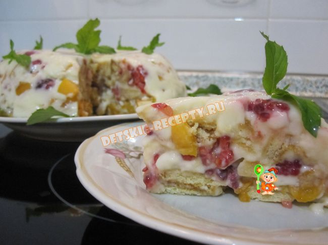 Летний десерт без выпечки