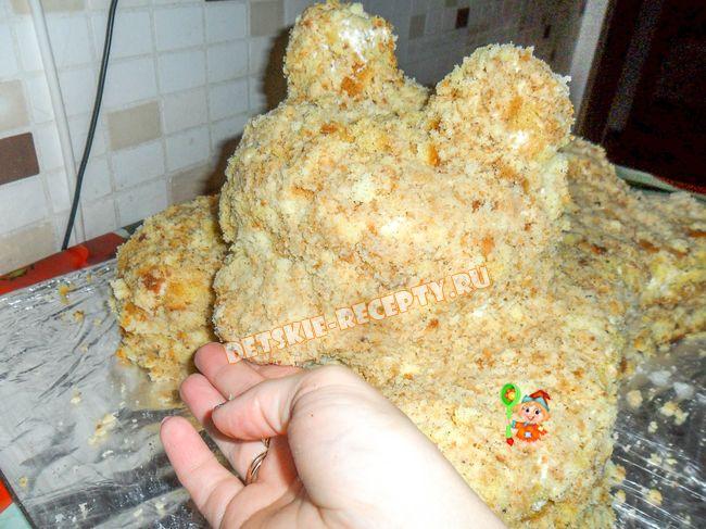 Торт в виде мишки своими руками
