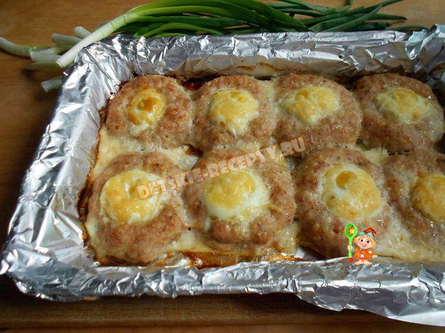 шницели с яйцом в духовке