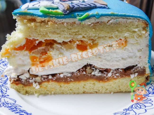 торт сникерс с безе