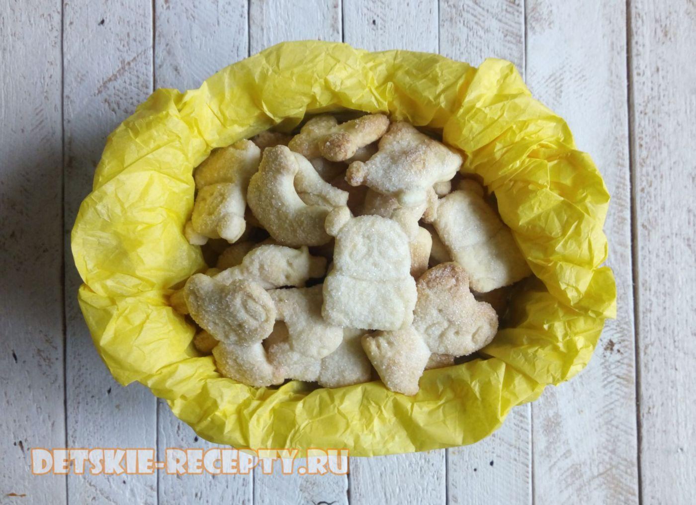 рассыпчатое и нежное песочное печенье на сливочном масле