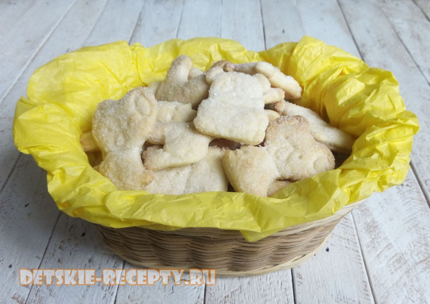 песочное печенье на сливочном масле