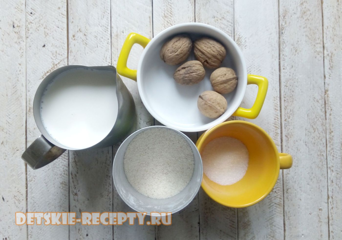 продукты для каши с орехами