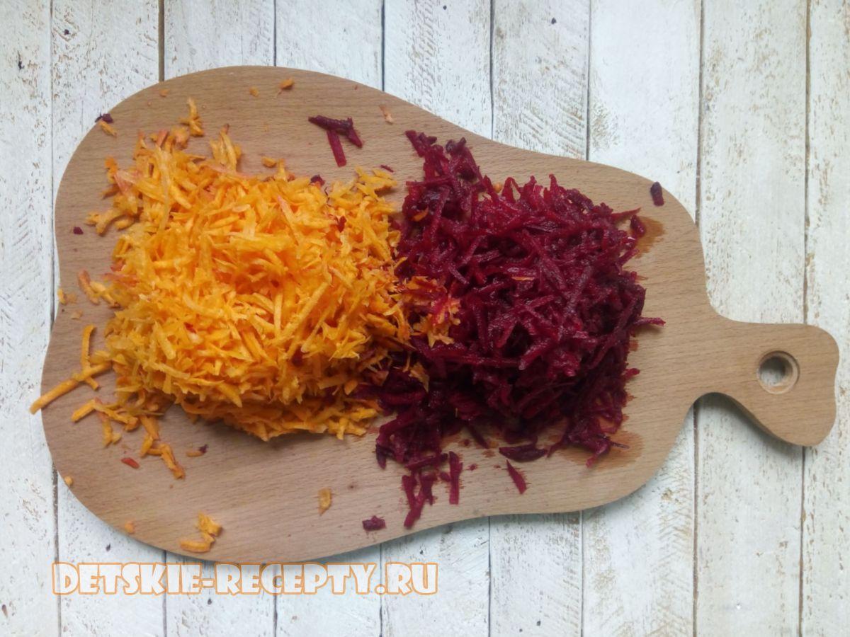 морковь и свекла для борща