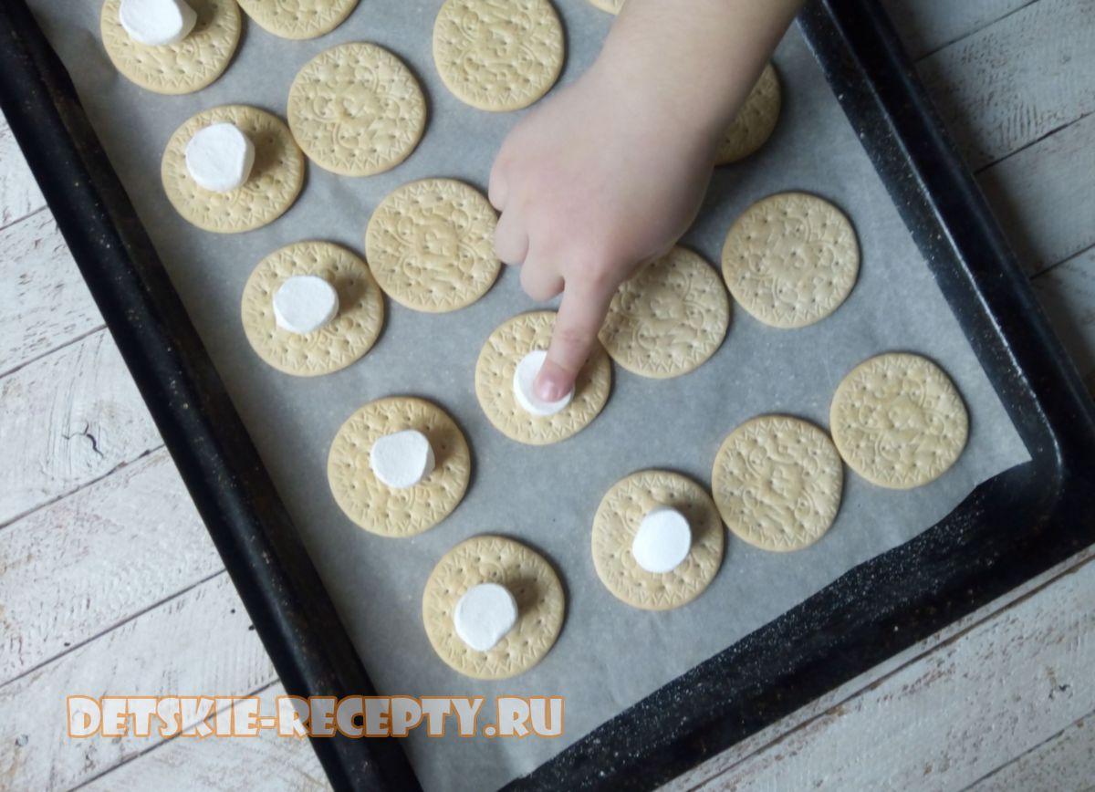маршмеллоу на печенюшках