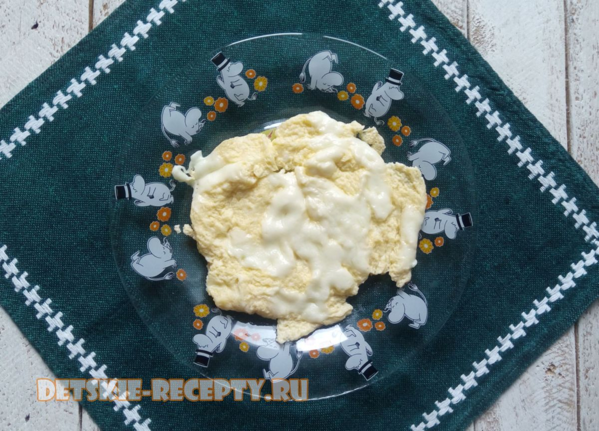 омлет с сыром на пару