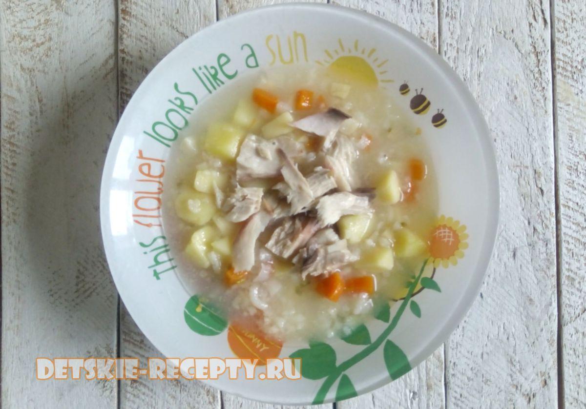 легкий суп из тунца