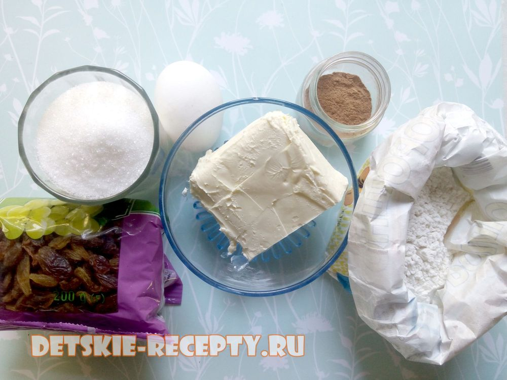 продукты для печенья с корицей
