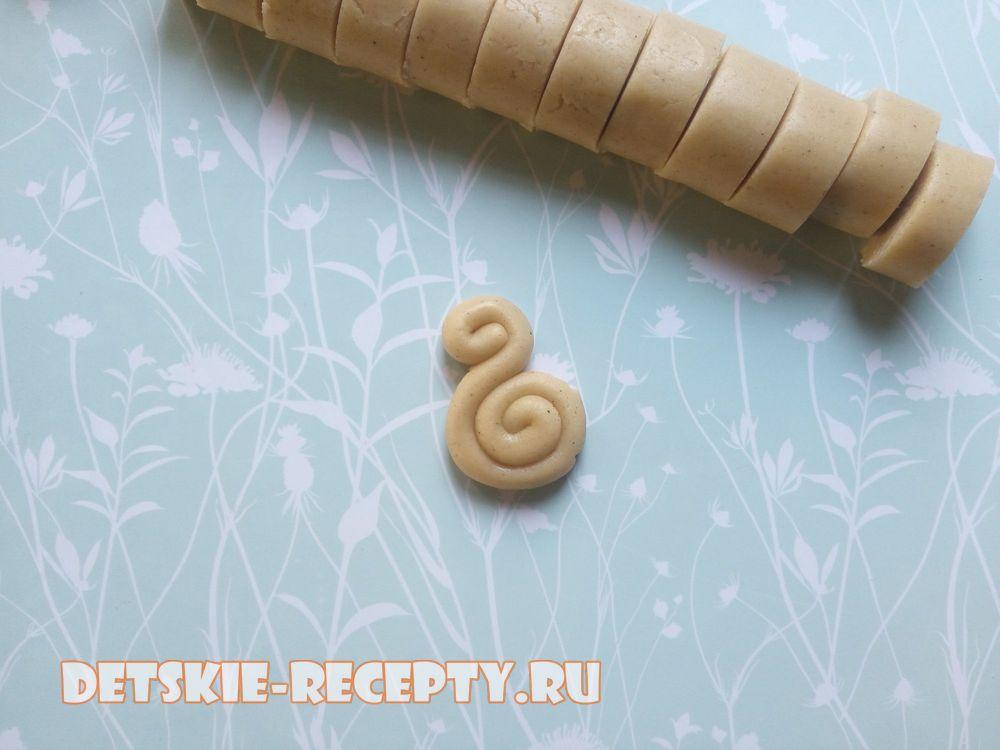 сформируйте печенье