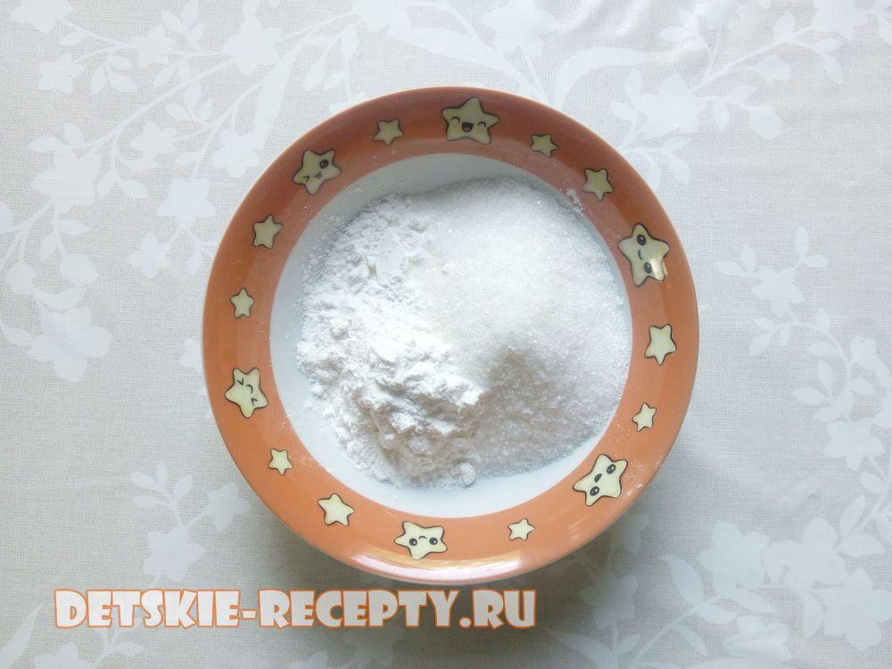 порошок для пудинга с сахаром