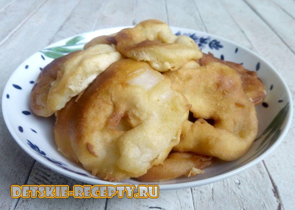 яблочные пончики на скорую руку
