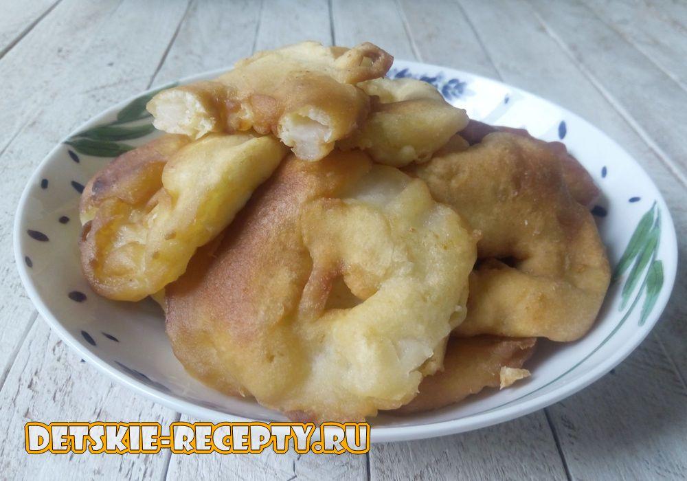 яблочные пончики обжаренные в масле
